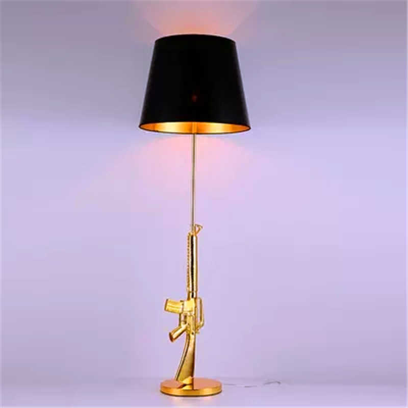 Detail Feedback Questions About Modern Standing Lamp Ak47 Gold Led