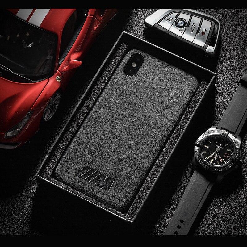 Galleria fotografica Motorsport AMG Gran Turismo GTR Turn fur cover case for iphone 6 6S plus 7 plus 8 plus X XR XS MAX Luxury car phone leather case