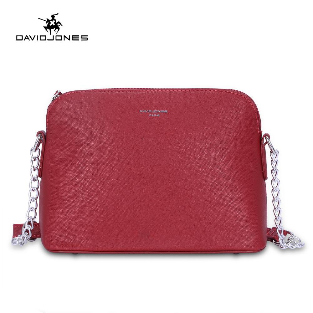 DAVIDJONES Women Handbag Pu Leather Female Shoulder Bags Small Lady Chain Messenger Bag Girl Brand Crossbody Bag Drop Shipping