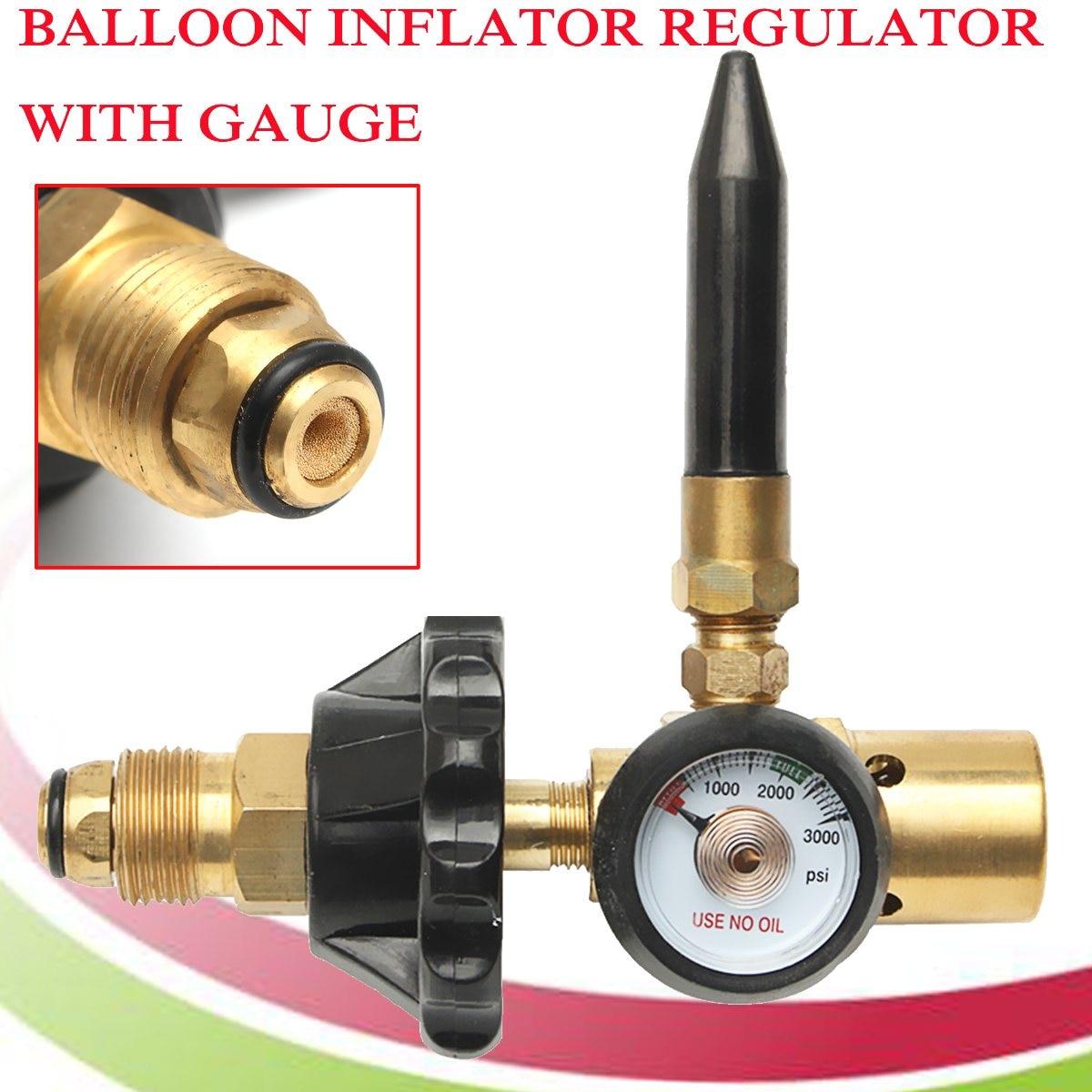Brass Helium Latex Balloon Inflator Regulator With Pressure Gauge For G5/8 Tank Valves Mayitr 145*135mm brass rubber 0 3000psi helium tank regulator filler valve for g5 8 tank valves balloons 300 150mm