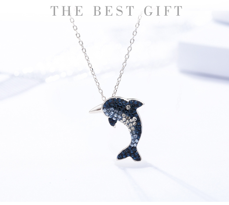 dolphin silver necklace for women 6