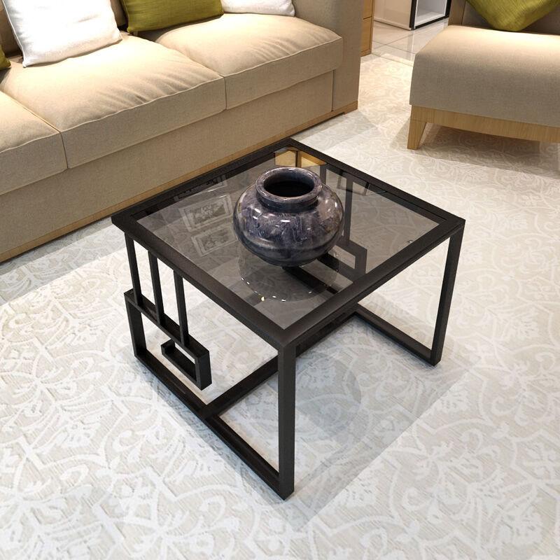 living room modern small assemble tea table sofa side cabinet table corner small glass side table - Sofa Side Table