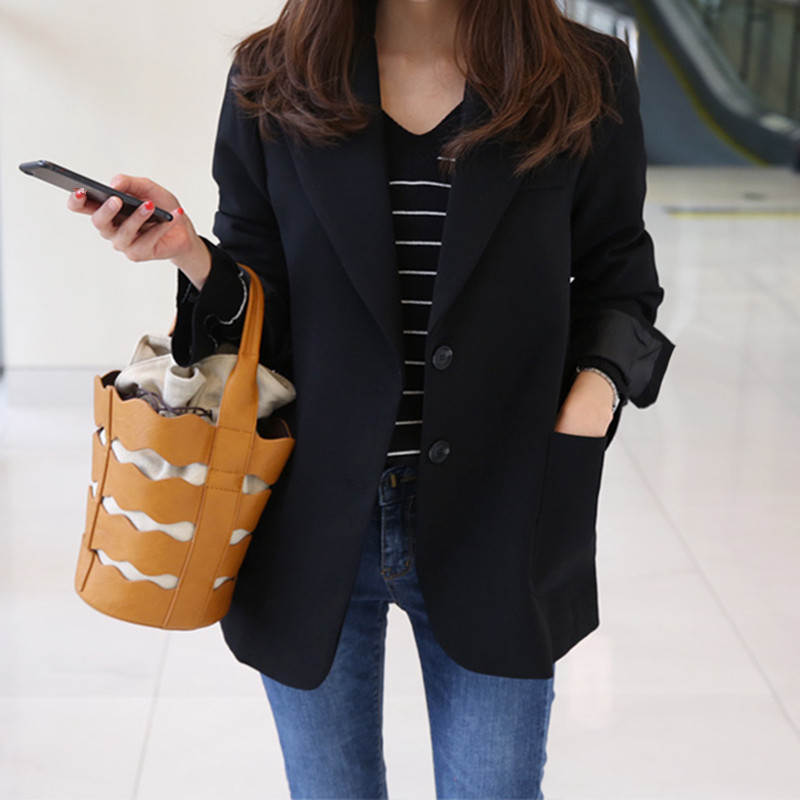 Neploe Fashion Women Blazers and Jackets Work Office Lady Suit Slim Black Single Button Business Female Blazer 35760 1