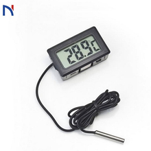 Digital Thermometer Fridge Freezer Temperature Meter Mini Digital LCD Temperature Meter Electronic Thermometer Sensor  Tester air temperature humidity meter moisture meter sensor lcd digital thermometer hygrometers measurement tester device quality