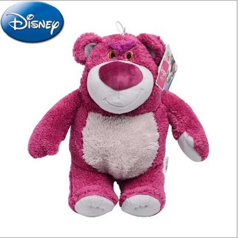 Disney Original Toy Story Lotso Strawberry Bear Q Cute Kawaii Stuff Plush Toy Girl Baby Birthday Gift Christmas Gift Toys