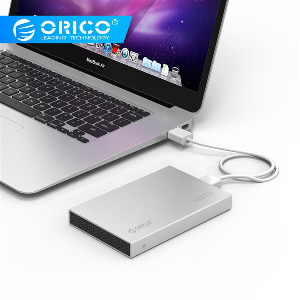 ORICO 2.5 Inch Type-C Aluminum Alloy External Hard Drive Enclosure HDD Case For 9.5MM High-Speed Case Support UASP SATA II