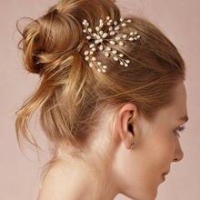 Женский свадебный гребешок с жемчугом цветок кристаллами украшения