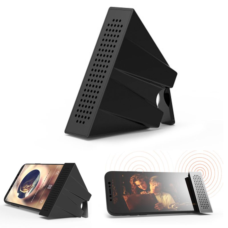 Portable Mobile Phone Loudspeaker Speaker Holder Sound Amplifier Bracket Desktop Folding Bracket Loudspeaker With Packing