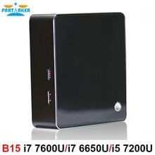 Core i7 6650U/i7 7500U/i7 7600U Kaby Lake Mini PC Windows 10 DDR4 Nuc NGFF SSD HD 640 5G AC Wifi Bluetooth HTPC HDMI Mini DP