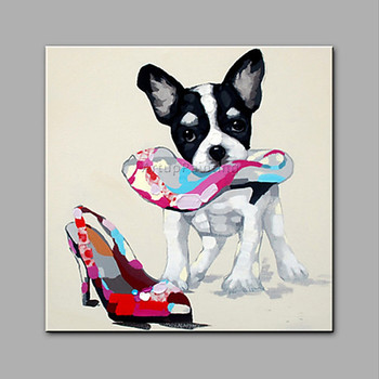 Dog painting Canvas acrylic painting wall art pictures for living room home decor pop art animal Painting cuadros decoracion0012