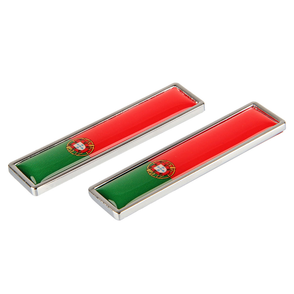 1 Pair Country National Flag Portugal Hot Metal Stickers Car Styling Motorcycle Accessories Badge Label Emblem Car Stickers