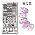 1 Pc Christmas Stamping Plate Rectangle Snowflake Heart Nail Stamping Template Manicure Nail Art Plate Harunouta L029