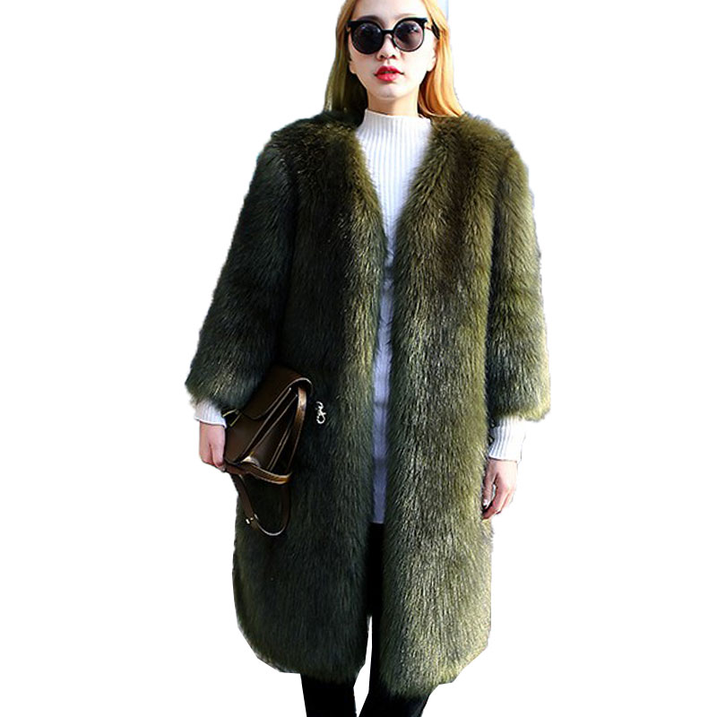 green Faux 048 Beige Automne Fourrure Nouveau Manches Chaud Femmes Haute Couture point Manteau Survêtement 9 De Veste 2018 Parkas dark Hiver Grey Gray white black light RfpOqxwxT