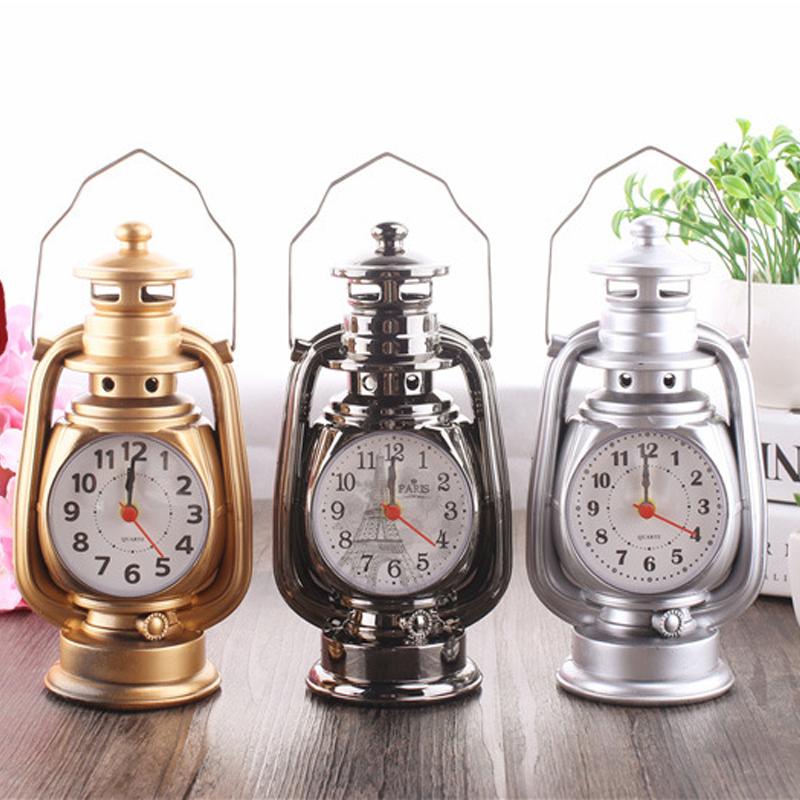 Classic Set Oil Lamp Mannequin Alarm Multi-Perform Family Craft Reward Set Clock Oil Lamp Alarm Clock