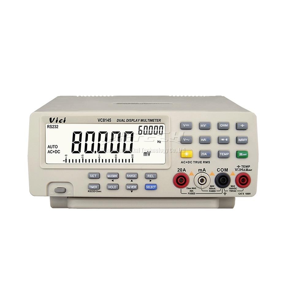 Tools : VC8145 VC8045 4 7 8 VICI DMM Digital Bench Top Multimeter True RMS 80000 Counts Tester Auto Range Multimetro Voltmeter Ohmmeter