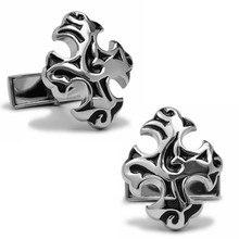 Спарта высокое качество металл+ гальванических крестообразные серебряный цвет запонки мужские запонки