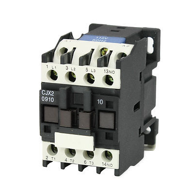 CJX2-0910 AC Contactor 110V 50/60Hz Coil 9A 3-Phase 3-Pole 1NOCJX2-0910 AC Contactor 110V 50/60Hz Coil 9A 3-Phase 3-Pole 1NO