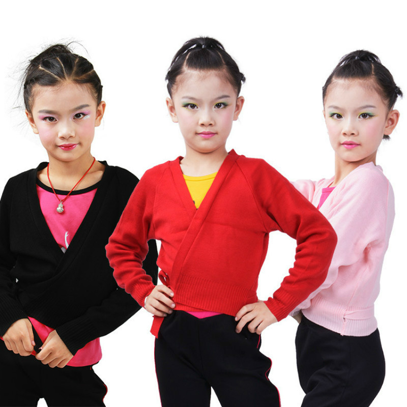 2018 gymnastics leotard for girl ballet balett Jacket Long Sleeved Dance Sweater Top Coat Kids Dance Clothing Jacket Wrap Ballet girl