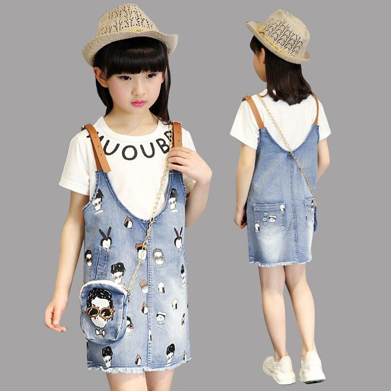 DGFSTM Summer Children Dress 2Pcs Baby Clothes Girls