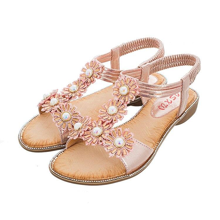 MLJUESE 2018 vrouwen sandalen zomer BOXIMIYA stijl elastische band - Damesschoenen - Foto 2