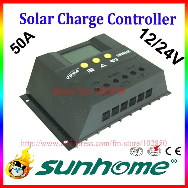 50A,12/24V auto,intelligent solar charge controller,PV charge controller,solar system controller