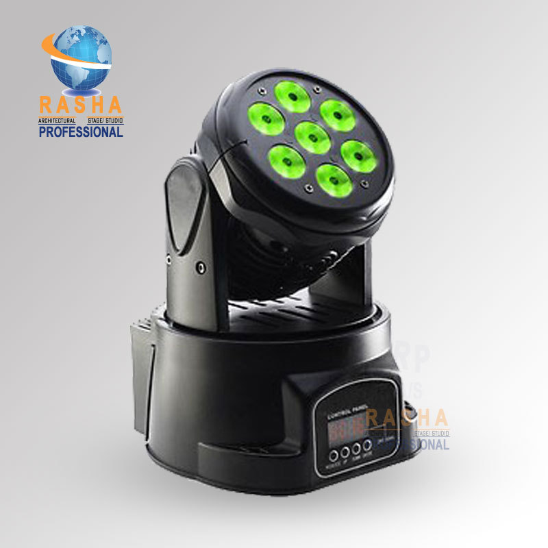 1X W70 Wash- Lowest Price High Brightness 7pcs*12W 4IN1 RGBW MINI LED Moving Head Wash Light,LED Moving Head Light 19 12w high power led rgbw wash light 16 channels ac90 240v moving head light professional stage