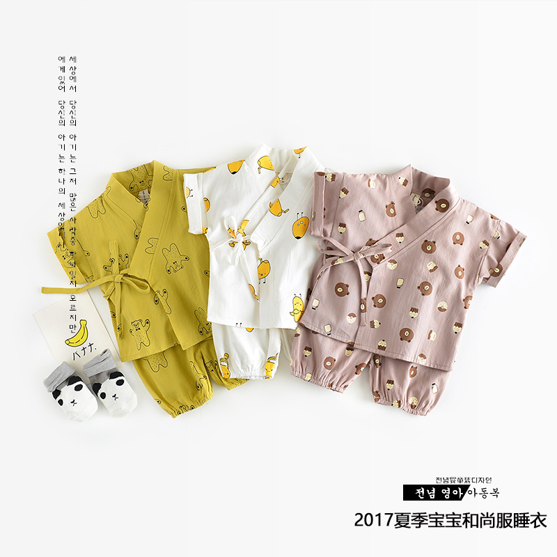 Spring 0-3 Infants 100% cotton pajamas Baby leisure wear baby girl sleep wear baby boy sleeper High quality Long sleeve kimono