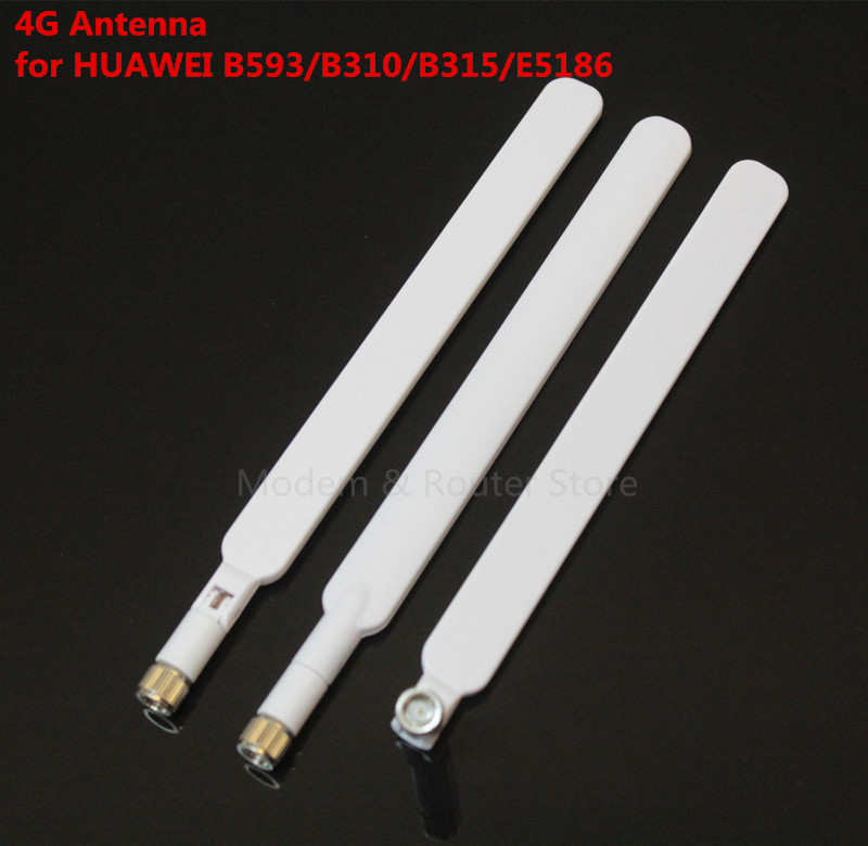 Indoor Antenna 4G external antenna LTE router with SMA male Connector White black color for B593 B310 E5186 B315 SMA connector