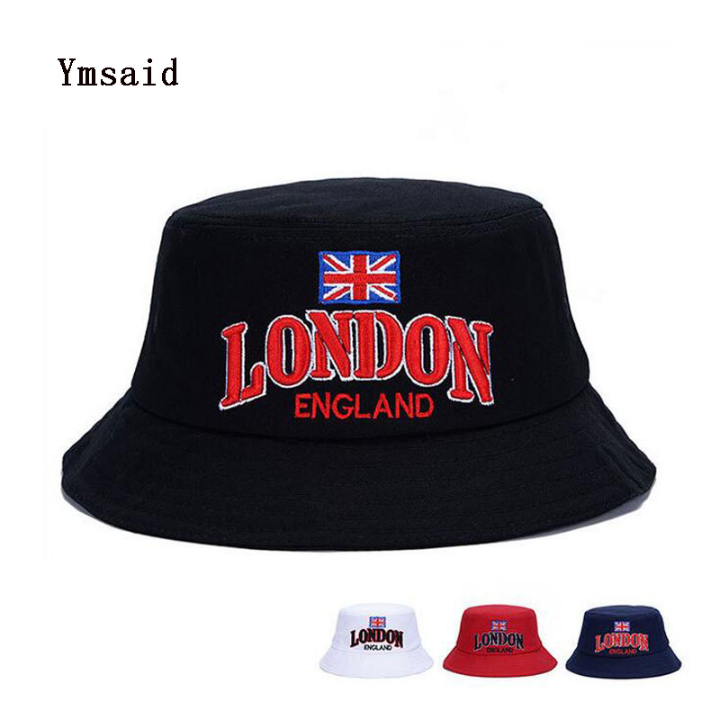 2017 The Union Flag LONDON Embroidery Bucket Hats Unisex Fashion Hip Hop Gorros Men Summer Caps Beach Sun Hat