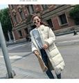 Новое поступление Модные Женские однотонные тонкие длинные новые размеры для женщин хлопок тонкий пуховик парка с капюшоном зимняя куртка