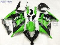 Мотоцикл Обтекатели для Kawasaki Ninja 300 zx300 ex300 2013 2014 13 14 ABS Пластик инъекции обтекателя Кузов комплект зеленый черный