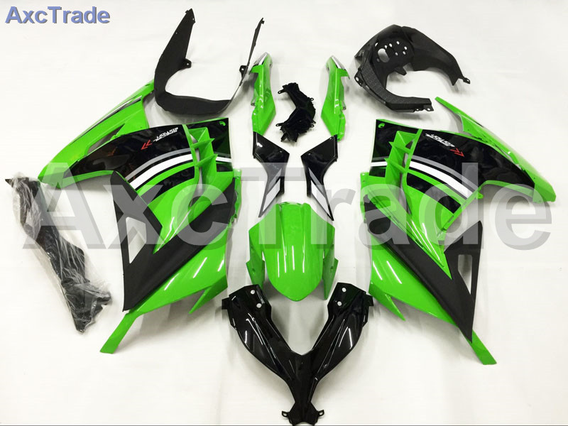 Motorcycle Fairings For Kawasaki Ninja 300 ZX300 EX300 2013 2014 13 14 ABS Plastic Injection Fairing Bodywork Kit Green Black