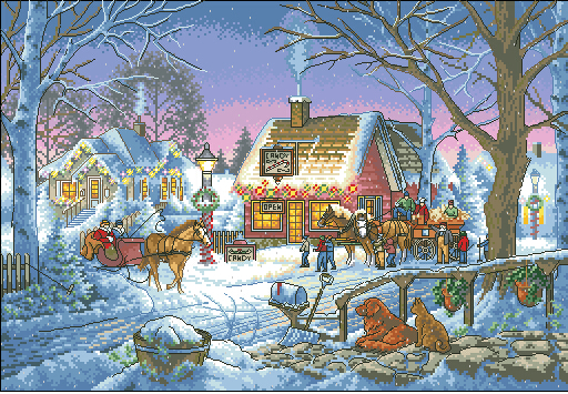 Top Quality Beautiful Lovely Counted Cross Stitch Kit Sweet Memories Memory Christmas Winter Snow Dim 8816