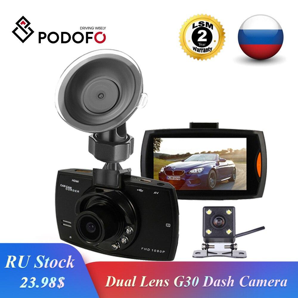 Podofo Car DVR Dash-Cam Dual-Lens Registrator Video-Recorder Rear-View-Camera Night-Vision