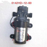 Small dc 12v and 24v water pump 60W 5LPM high pressure self priming diaphragm mini pump automatic pressure switch