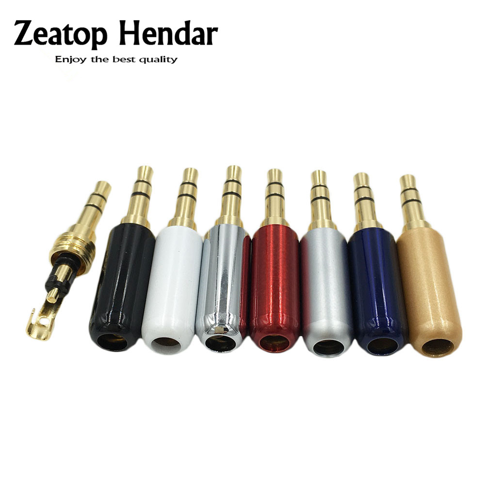 100pcs Copper 3 5mm Audio Jack with Belt Clip Gold plated 3Pole Male Adapter Earphone Plug