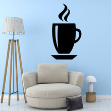 3D coffee Home Decorations Pvc Decal Removable Wall Sticker Mural