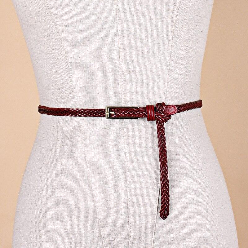 Women Waist Belt Elastic Waistband Canvas Buckle Braided Woven Straps Dress//Pant