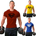 Colección de los hombres camisa de algodón blusa masculina bosco camiseta culturismo fittness hero superman ropa musculares
