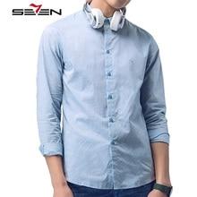 Seven7 Vintage Kleid Shirts Männer Casual Langarm Baumwolle Importiert Formale Tuxedo Shirt Männlich Rosa Blau Weiß Slim Fit 112A30220