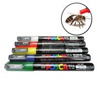 5PCS /Sets Queen Bee Marking beekeeper Marker Pen Beekeeping Plastic Marks Pen 5 Colours White Yellow Red Green Blue bee tools