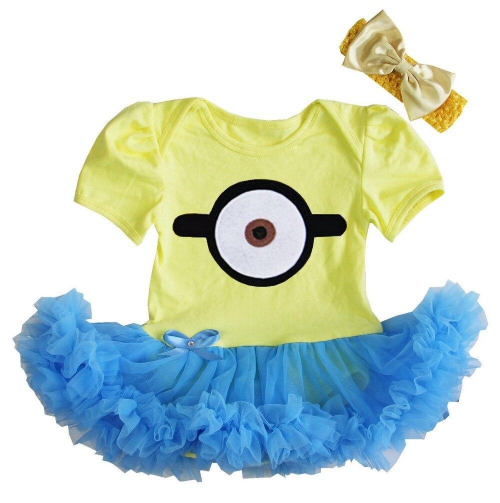 Baby cribs hong kong - Baby Girl Halloween Party Dress Yellow Blue Monster Bodysuit Tutu Banana Costume Dress 0 18m