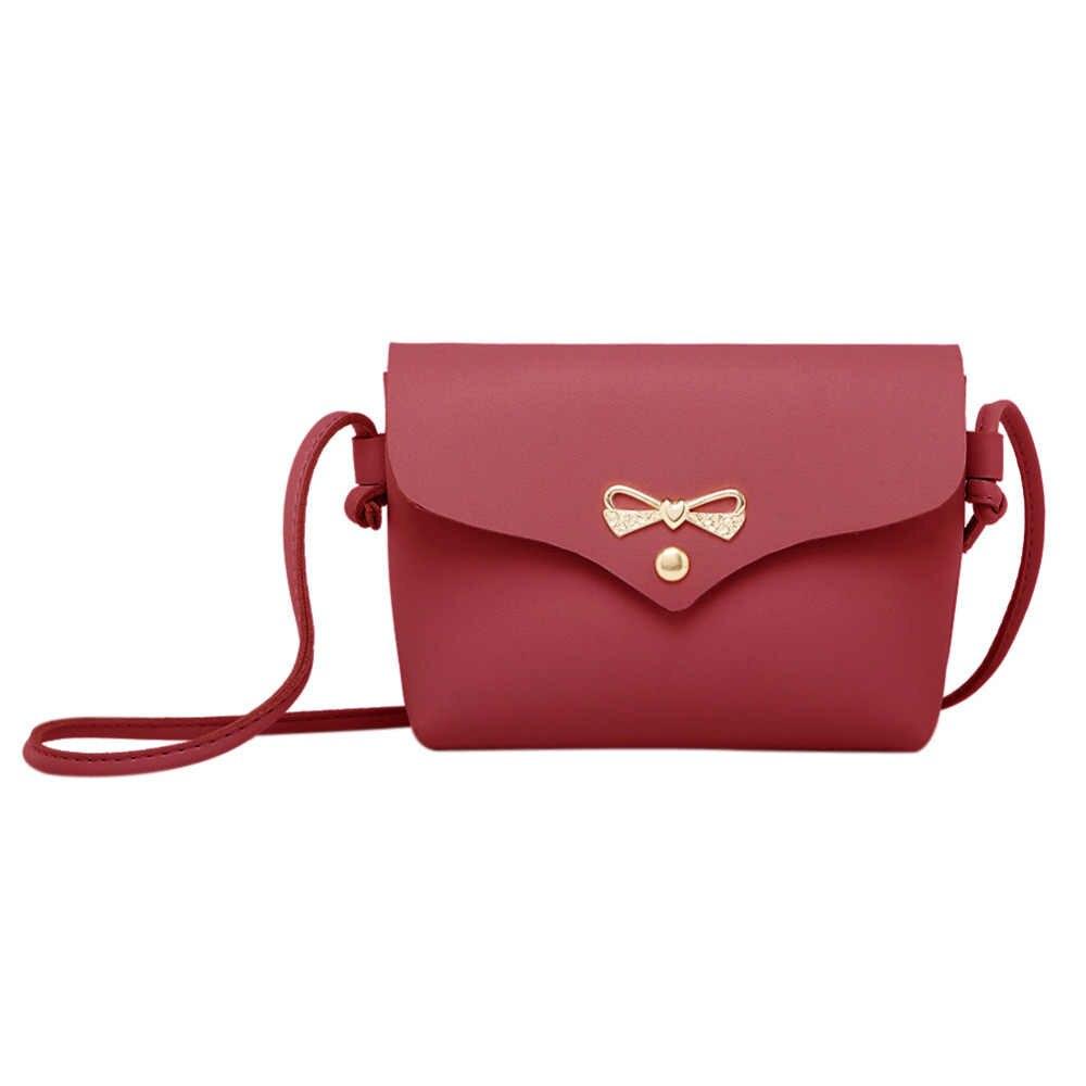 75cd0dde5758 Простой Повседневное клапаном сумки на плечо Для женщин бантом чистый мини сумка  Сумки Дамы Замок клапаном