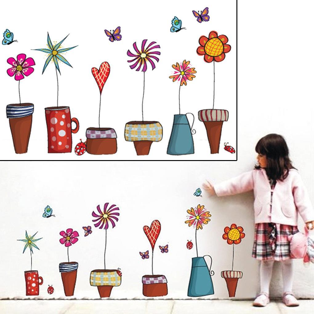 Cute wall Stickers DIY Decal Window glass Wall decor Home ...