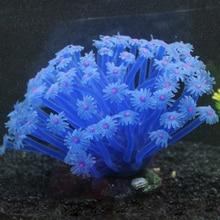 Artificial Sea Anemone Imitated Coral Ornaments 15*10cm For Fish Tank Aquarium Decoration 1pcs artificial silicone fish tank aquarium fake coral plant underwater aquatic sea anemone ornament decoration 6 colors