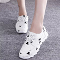 2016 new popular single shoes Korean fashion comfortable casual women shoes cute cartoon mujeres zapatos