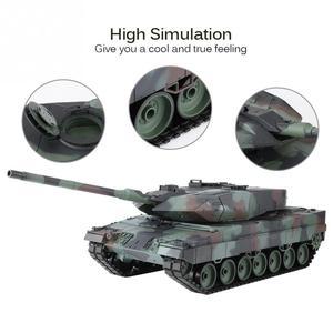 Image 2 - הנג ארוך 2.4GHz RC נמר טנק 1/16 שלט רחוק גרמנית נמר 2 A6 קרב טנק העולם סימולציה קול טנק דגם צעצוע