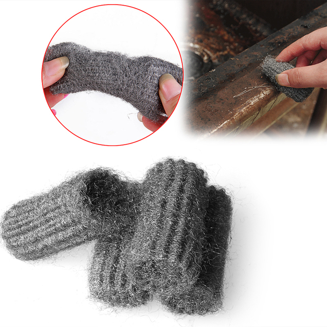 12pcs Cleaning Equipments Steel Wool Pads Kitchen Wire Stainless Ball Pan Cleaner Supplies
