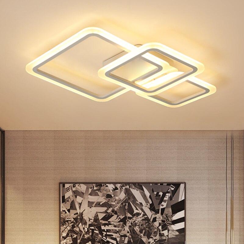 Acrylic Masks Modern led Chandeliers For Living bed room Home Dec lustre plafonnier White Chandelier lighting