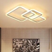 אקריליק מסכות מודרני led נברשות סלון מיטת חדר בית דצמבר זוהר plafonnier לבן נברשת תאורה Avize Luminarine